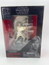 NEW Star Wars The Black Series Titanium Luke Skywalker With Diorama Background