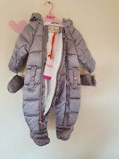 Ted BakerBaby Girls' Silver Shower Resistant Snowsuit. 0-3 Months. BNWT