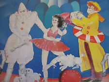 Circus Art Poster Vintage Original Lot stylized Europe Foreign Display 1980s+