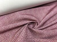 GORGEOUS CERISE POLYESTER LINEN FIRE RESISTANT FABRIC 8 METRES