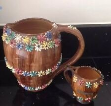 Vintage 1950 S art italien Pottery Paire 3D Glacé Gems cruches scrafitto batossi RARE