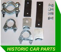 "EXHAUST MOUNTING KIT for Morris Minor 1000 1956-71 1¼"" Clamps Hangers Straps"