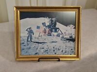 "James ""Jim"" Irwin Apollo Astronaut Signed  / Inscribed Moon-landing print rough"