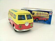 VINTAGE VW School Bus Van Tin Litho Japan Excellent Condition ICHIKO 1979 w/box
