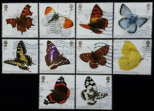 GB 2013 Butterflies Used Off Paper Set