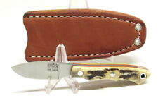 Bark River Knives Micro Canadian, S45VN, Antique Stag Bone with Red Liners, EDC