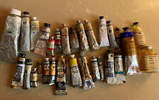 28 Vintage Rare Oil paint tubes Nos Old Holland, Williamsburg, W&N Etc + Oils