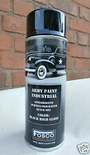 BLACK HIGH GLOSS Army Spray Paint Cans 400ml US Military Spec Paint Industrial