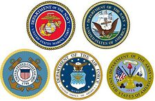 """Lot of 5 12"""" Military Decal Stickers Army Marines Coast Guard Navy Air Force"""