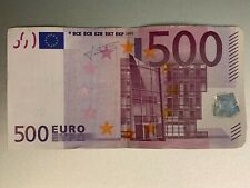 500 Euro Bank note 2002 - X series Germany sign by Trichet