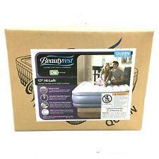Beautyrest Simmons Air Mattress Bed Hi Loft 17 Inch Raised Edge Queen with Pump