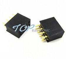 50PCS 2x4 Pin 8P 2.54mm Double Row Female Straight Header Pitch Socket Pin