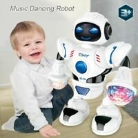 Dancing Toy Space Walking Robot Kids Christmas Music New Gift Electric LED Light
