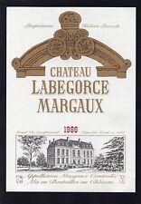 MARGAUX VIEILLE ETIQUETTE CHATEAU LABEGORCE 1986 75 CL RARE    §18/01/17§