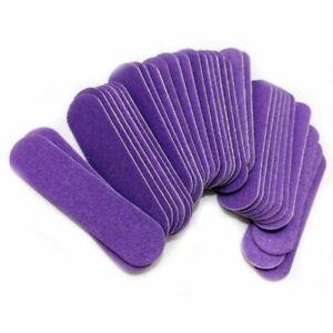 Mini Nail File Buffer Purple Fashion Sanding Nail Files Wood Manicure Tool Kit