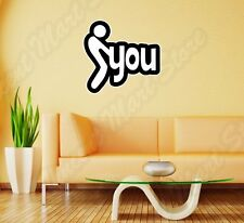 "F*** You JDM Offensive Funny Adult Sign Wall Sticker Room Interior Decor 22""X22"""