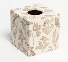 Lino Cubierta caja de pañuelos de madera hecho a mano placa recortada