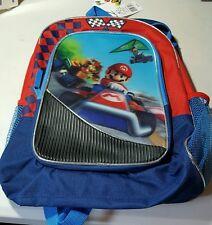 SUPER MARIO KART 7 BACKPACK! BLACK RED RACING GROUP SCHOOL BOOK BAG