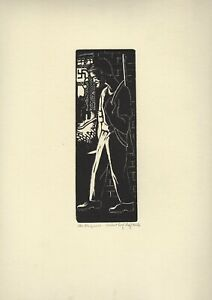 """""""Maquis"""" French resistance Leon Gordon Miller Wood Engraving on stock paper MINT"""