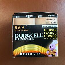 4 X Duracell 9 V PP3 Plus Power Batteries Avertisseur de fumée LR22 MN1604 longue durée