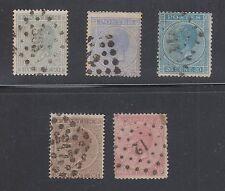 Belgium #18-21 Used 1867 King Leopold I Scv $37.25