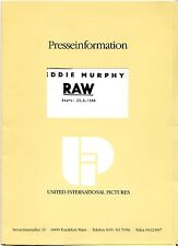 Eddie Murphy Raw Presseheft press book Eddie Murphy, Tatyana Ali, Billie Allen