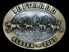 TE11172 NOS 2007 ALASKA IDITAROD SPORTS COMMEMORATIVE BELT BUCKLE
