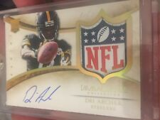 2014 Panini Immaculate DRI Archer Rookie PATCH AUTO NFL SHIELD 1/1 RPA Steelers