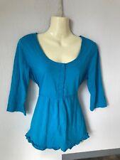 ✿ Damen Oberteil Bluse Longtop Longshirt Langarmshirt ✿ Street One ✿ Gr. 38 blau