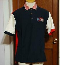 Vintage Mac Tools Racing Red White Blue Swingster Polo Shirt Size Large
