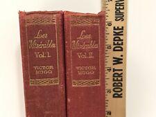 Les Miserables Vol.1,2 Thomas Nelson & Sons Vtg