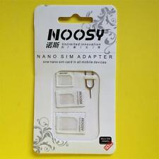 4in1 Pack Nano a Micro / STANDARD SIM CARD ADATTATORE PER IPHONE 5S 5 4S 4 3GS 3G 2G