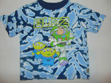Buzz Lightyear Toy Story Kids Tie Dye Shirt Blue Short Sleeve Sz 4T Youth