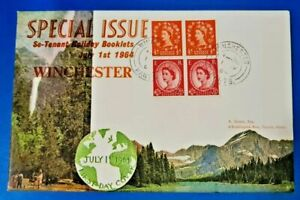 GB First Day Cover 1964 Special Issue Se-Tenant Holiday Booklets Winchester NZ3