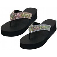 Womens Flip Flop Fashion Open Toes Rhinestone Upper Thong Sandals  6 7 8 9 10 11