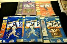 VINTAGE JACKIE ROBINSON KEN GRIFFEY STEVE YOUNG TIGER WOODS WHEATIES BOX LOT!!!