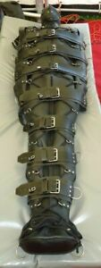 PREMIUM  LEATHER SLEEP SACK  BONDAGE BODY BAG BDSM MUMMY RESTRICTED BINDER ns2