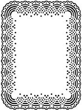 DARICE EMBOSSING ESSENTIALS FOLD ~DOILY LACE