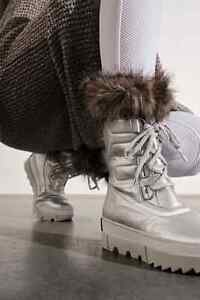 Sorel Joan of Arctic Next Weather Boots Pure Silver Womens Size 7 38 New
