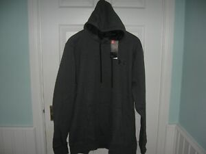 BNWT MENS UNDER ARMOUR RIVAL FLEECE LINED PULLOVER FITTED GOLF HOODIE XXL GREY