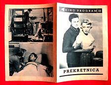 BREAKING POINT 1950 HEMINGWAY JOHN GARFIELD PATRICIA NEAL EXYU MOVIE PROGRAM