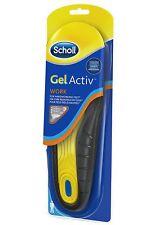 Scholl Gel Activ Insoles MEN WORK 1 Pair Size 8-14 NEW LOOK Very Comfortable
