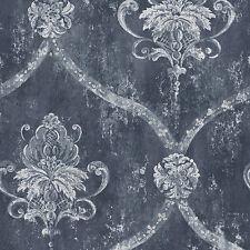 CS35601 - Classic Silks 3 Damask Blue White Galerie Wallpaper