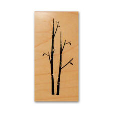 Birch Trees mounted rubber stamp, nature, Autumn, Fall, Christmas #24