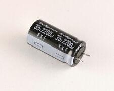 25x 2200uF 35V 105° High Temp Radial Audio Electrolytic Capacitor Rubycon DC mfd