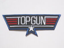 "TOP GUN military embroidered badge Patch 4.5 X 12 cm 1.75""x4.75"" A"