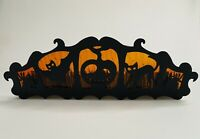 "Halloween Yankee Candle 16 1/4"" X 5 1/2"" Metal & Glass 5 Candle Tea Light Holder"