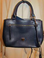 Dooney & Bourke Leather Saffiano Small Zip Satchel MARINE BLUE $198