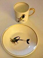 Berry Haute Compagnie Nationale de Porcelaine Demitasse Cup Limoges Birds Bird