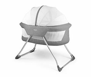 Cocoon Folding Moses Crib Travel Cot Grey